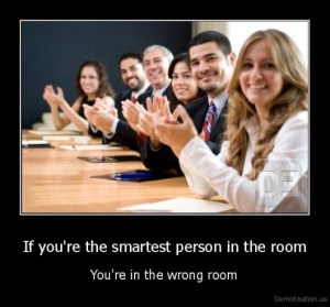Smartest person in the room